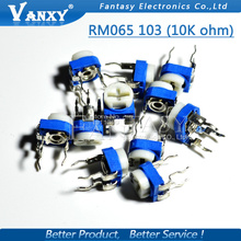 20PCS RM065 RM-065 10K ohm 103 RM065-103 Trimpot Trimmer Potentiometer variable resistor