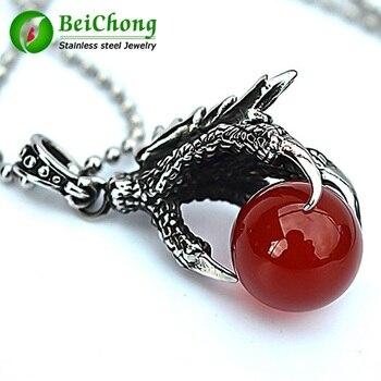 (10 pieces/lot) Punk Accessories China Wind Steel Titanium Necklace Pendant Retro Black Eagle Talon Personality Pendant