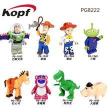Set Sale Building Blocks Toy Story 4 Cartoon Woody Jessie Buzz Lightyear Roundup Figures For Children Toys PG8222 PG8270 DA8004