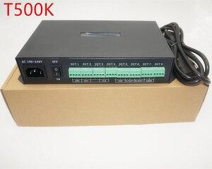 Image 1 - T 500K Bộ Điều Khiển Máy Tính Trực Tuyến RGB Full Màu Đèn Led Pixel Mô Đun Điều Khiển 8 Cổng Hỗ Trợ Lên Đến 300000 Điểm Ảnh Ws2801 Ws2812b