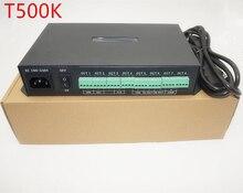 T 500K controller Computer online RGB Voll farbe led pixel modul controller 8ports unterstützung bis zu 300000 pixel ws2801 ws2812b