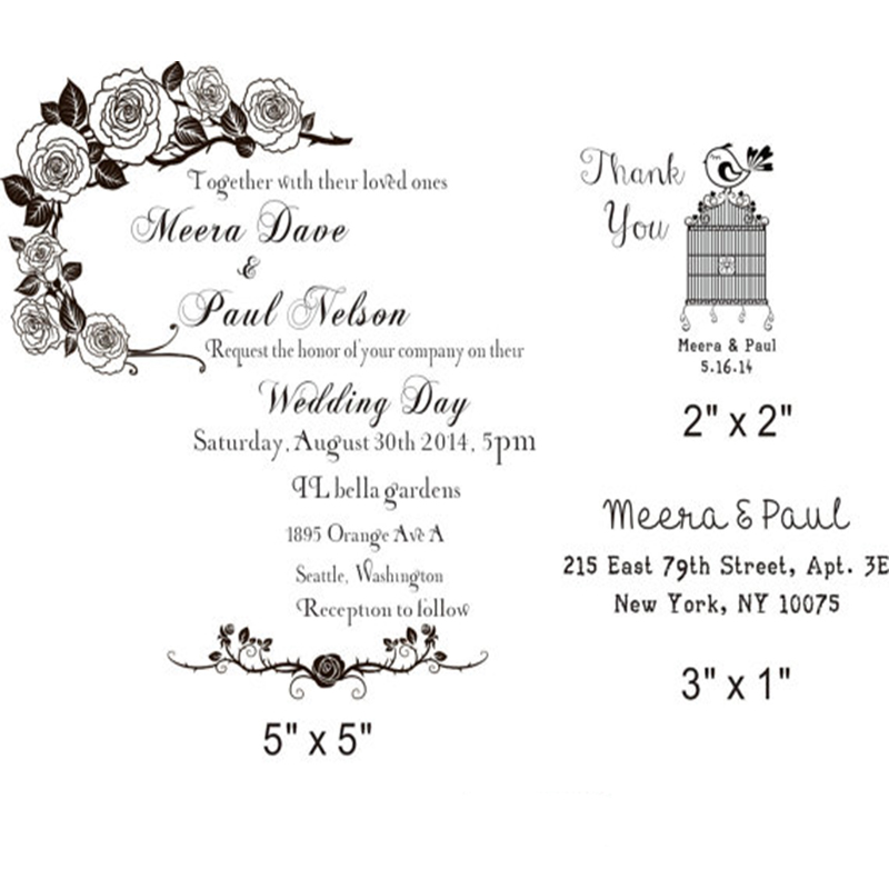 Address Stamp Wedding Invitations Personalized Womens Gift Return Modern Stamper Brian And Emily