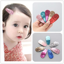 Sequined oval child BB clip hair clip headgear hair accessories(China)