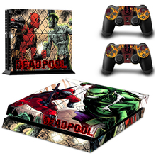 Deadpool Marvel Super Hero Decal Skin Stickers For Sony PS4 Console 2 Controller