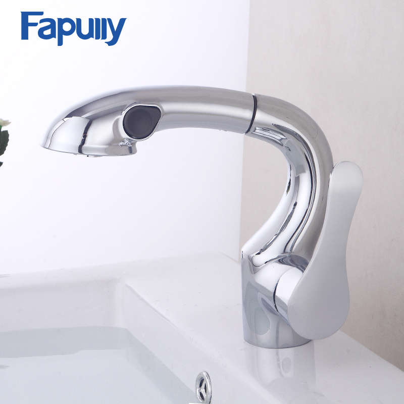Fapully Kitchen Faucet Pull Out Spray Single Handle Water Tap Swivel Spout Vessel Kitchen Sink Mixer Tap Torneira kitchen sink vessel faucet single hole washbasin sink mixer tap torneira da cozinha swivel spout