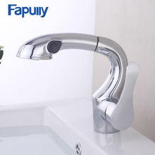 Fapully Kitchen Faucet Pull Out Spray Single Handle Water Tap Swivel Spout Vessel Kitchen Sink Mixer Tap Torneira  все цены