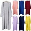 Outono Sólido Preto Longo Ocasional Preto Kimono Cardigan Camisas Mulheres Tops E Blusas 2016 Nova Moda Com Bolsos 6XL 7XL