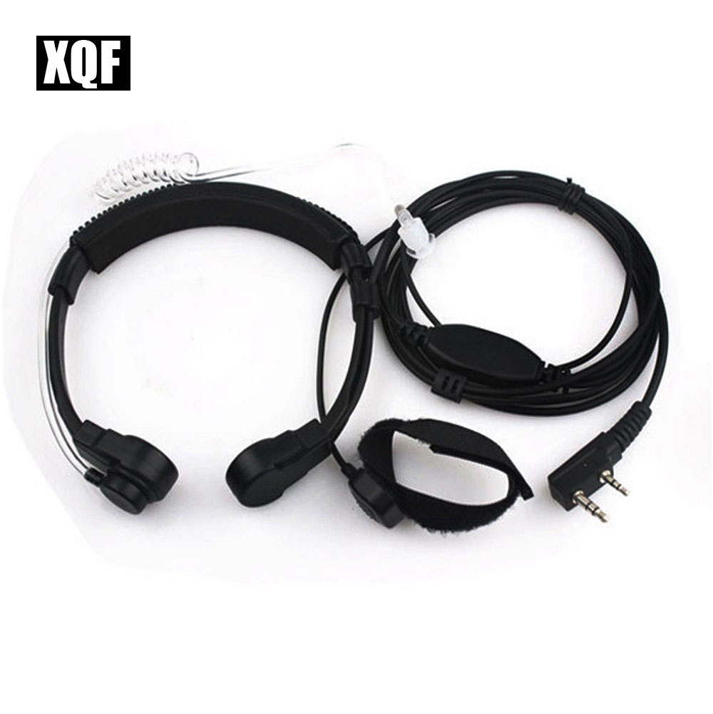 XQF Throat Mic Headset Earpiece PTT For Walkie Talkie Baofeng UV5R