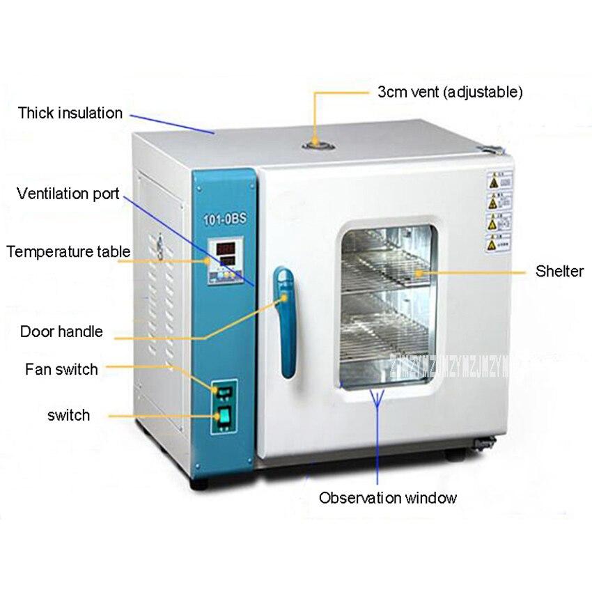 101 0BS Constant Temperature Blast Drying Box Chinese Medicine Oven High Temperature Oven Drying Box Laboratory Aging Box 220V