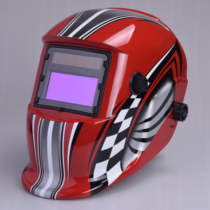 ФОТО Mastool Head-Mounted LCD Welding Protection Mask Solar Automatic Variable Light (DIN9-DIN13) Welder Cap Gas Welding Helmet