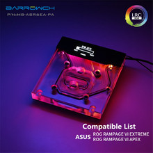 Barrowch ASUS ROG R6E R6A X299 Motherboard Integrated Water Block Smart OLED Display MB-ASR6EA-PA