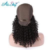 150% Density Full Brazilian Kinky Curly Wigs Remy Lace Front Human Hair Wigs With Baby Hair Ali Sky Pre Plucked 8 24 inches