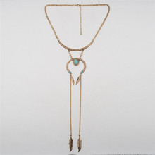 2017 Fashion Ethnic Collier Femme Bohemian Long Necklace Statement Maxi Vintage Necklace Coin Tassel Fine Jewelry