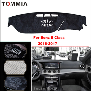 Tommia Car Dashboard Mat Light Avoid Pad Photophobism Anti-slip protection Mat For Benz E Class 2016-2017