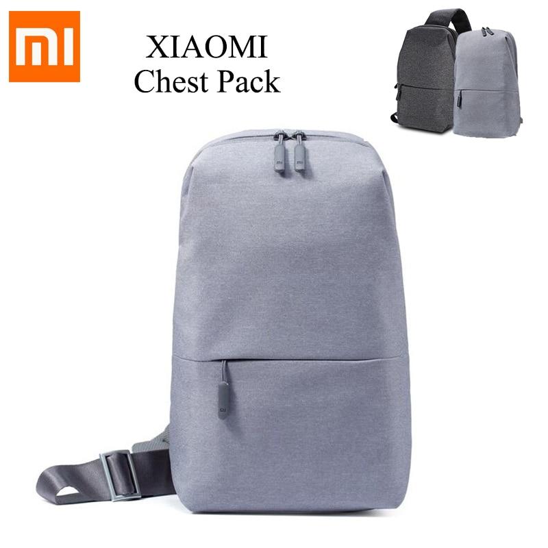 Original Xiaomi Mi Backpack Urban Leisure Chest Pack Bag For Men Women Small Size Shoulder Type Unisex Rucksack Backpack Bags