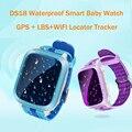 Femperna ds18 niños gps smart watch wifi gps localizador del perseguidor impermeable Llamada SOS Niños Smartwatch Para Android IOS PK Q50 Q80