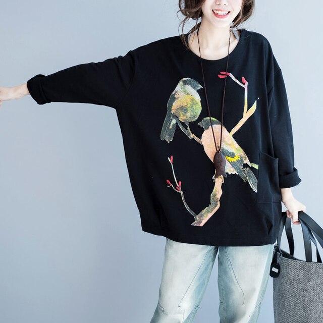 200 плюс размер женщин clothing осенью и зимой утолщение футболка топы с длинным рукавом свободные футболки рубашки основные женские футболки