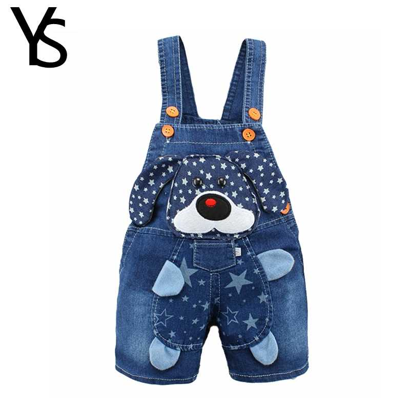 6M-3T Baby Overalls Toddler Boys Girls Jeans Overalls Summer Shorts Infant  Kids Rompers Dog Jumpsuit For Children Clothes