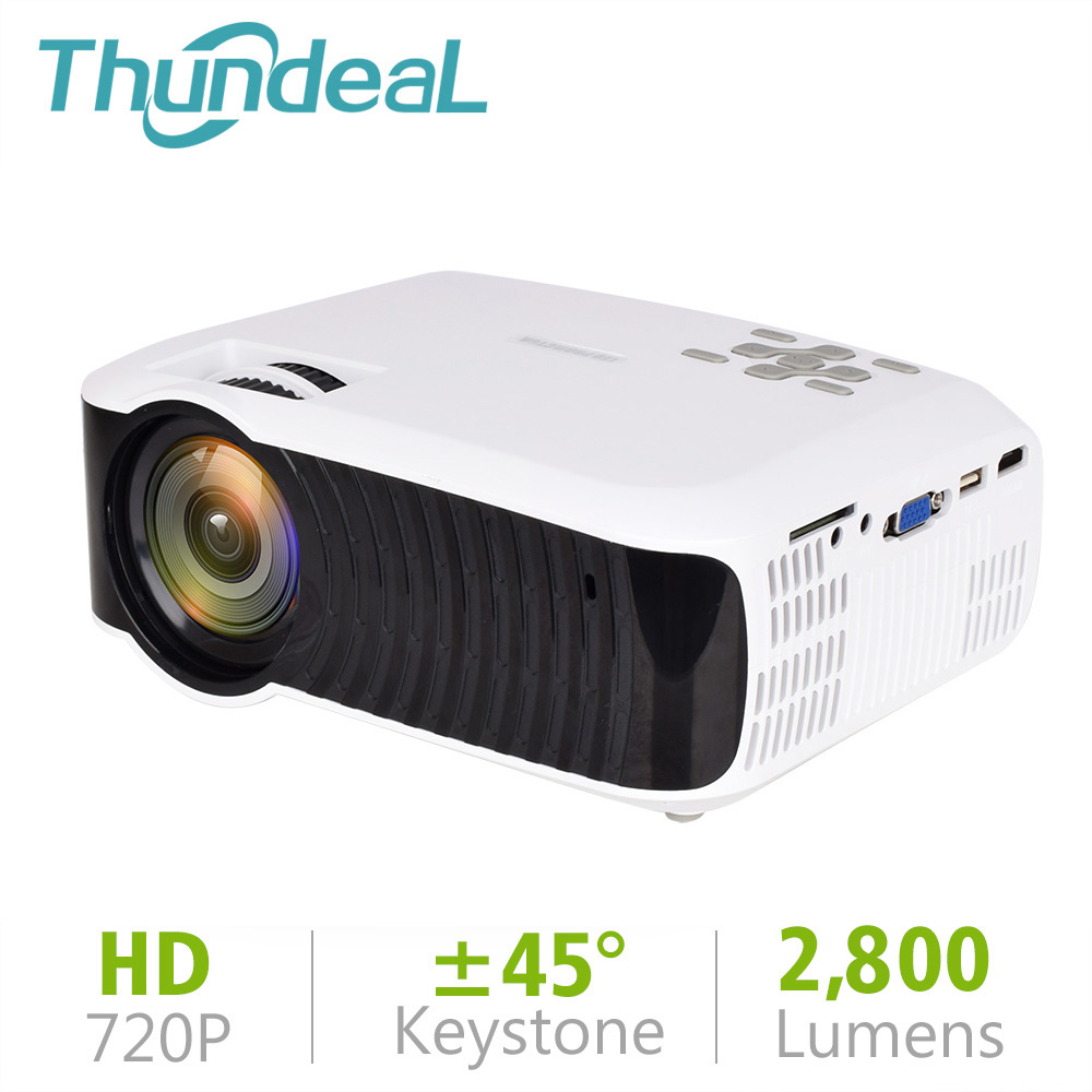 ThundeaL T23 T23K Mini Projector Native 1280 720 HD LED Video Theater Portable 2800 Lumen Beamer