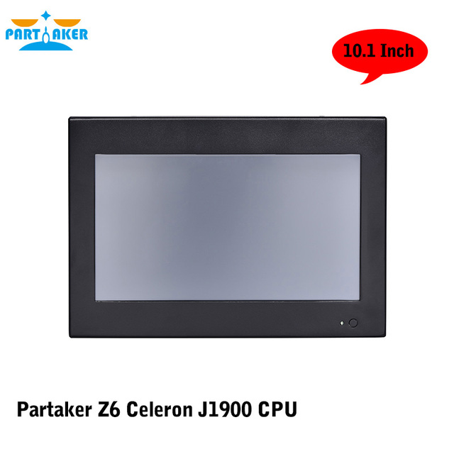 Partaker Elite Z6 10.1 Inch Touch Screen PC With Bay Trail Celeron J1900 Quad Core OEM All In One Pc 2G RAM 32G SSD