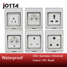 IP55 Waterproof Wall Socket 16A 250V US standard/UK standard/Universal standard/Germany standard/France standard/Brazil standard