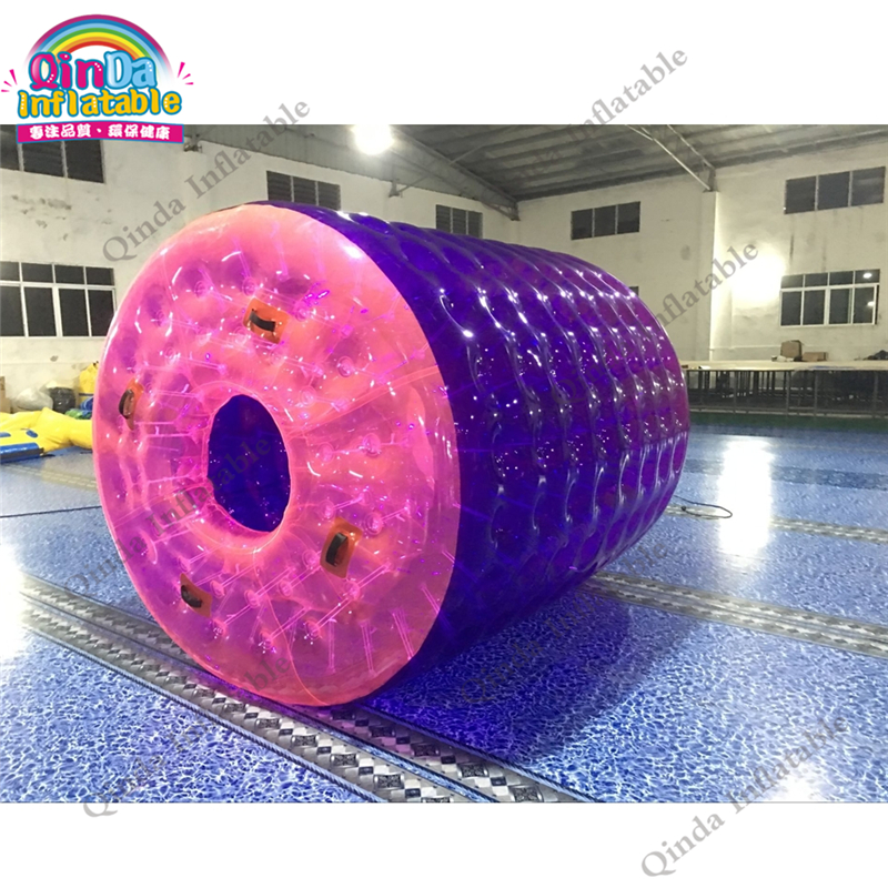 Purple Pool Float Inflatable Water Roller Ball,PVC Water Ball In Pool Or Water Park funny summer inflatable water games inflatable bounce water slide with stairs and blowers