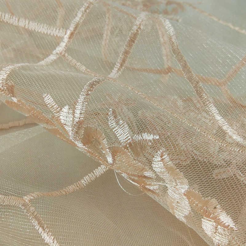 1 yard Fransız Dantel Kumaş Yüksek Kalite Tül Işlemeli Çiçek Şeffaf Net Dantel Kumaş Düğün için genişlik genişliği 130 cm