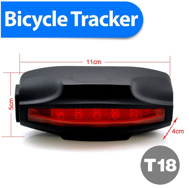 Special Tail Lamp Easy Locator Bike GPS Tracker Low Cost Waterproof 2200mAh Battery Free GPRS Tracking Software Real Address SMS vjoycar tk05sse 5000mah rechargeable removable battery solar gps tracker gsm gprs waterproof magnet locator free software app