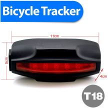 Special Tail Lamp Easy Locator Bike GPS Tracker Low Cost Waterproof 2200mAh Battery Free GPRS Tracking Software Real Address SMS