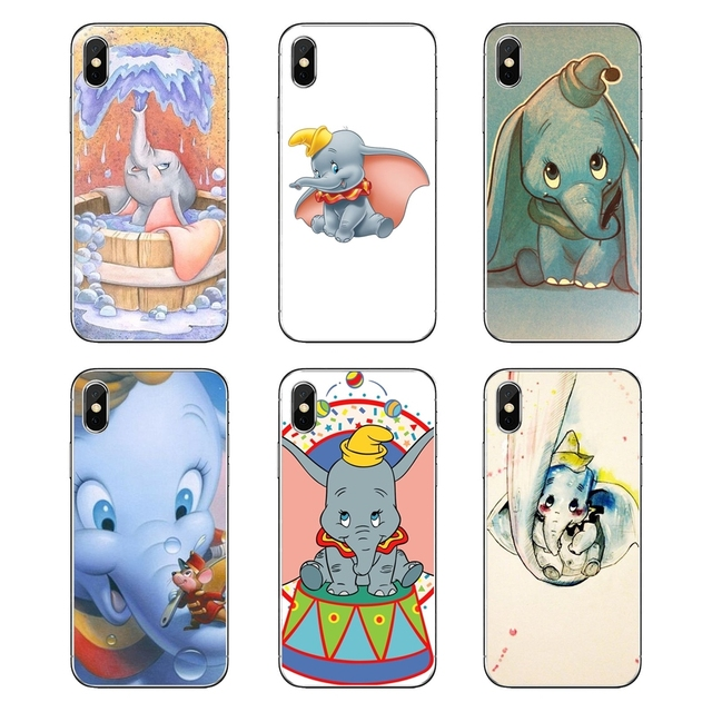 Transparent Soft Cases Covers For Huawei Honor 8 8C 8X 9 10 7A 7C Mate 10 20 Lite Pro P Smart Plus dumbo Little Flying elephant