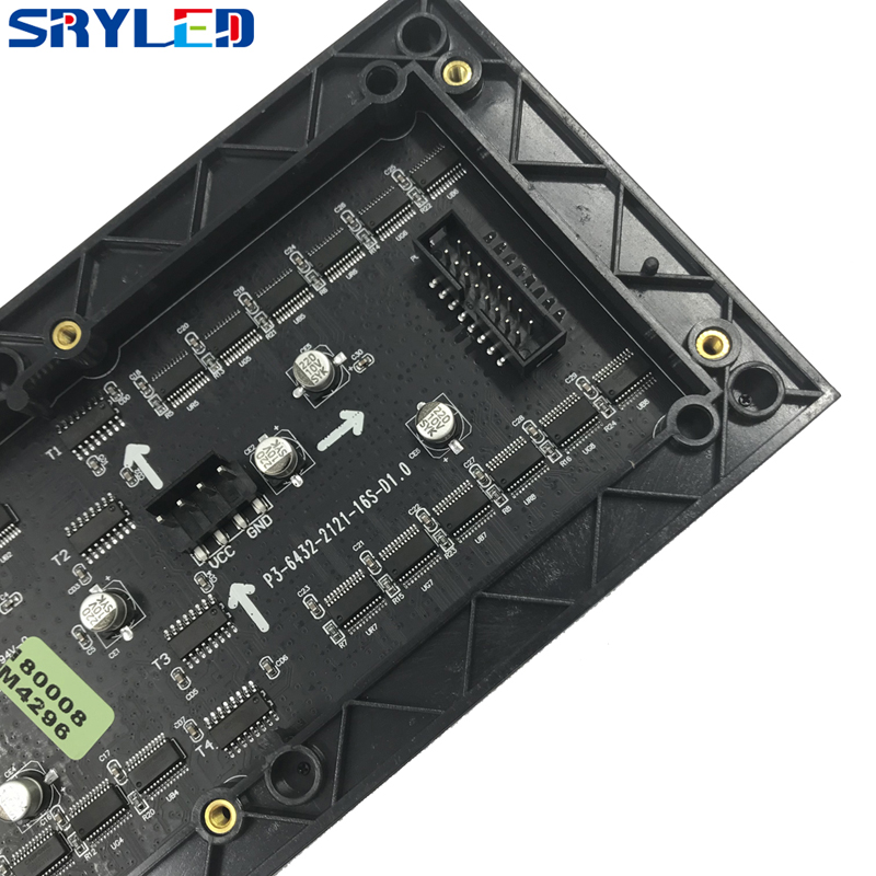 SRY 3mm Indoor SMD2121 Rgb Led Display Module,192mm X 96mm, 64*32 Pixel, Video Led Display Led Matrix P3 Led Module