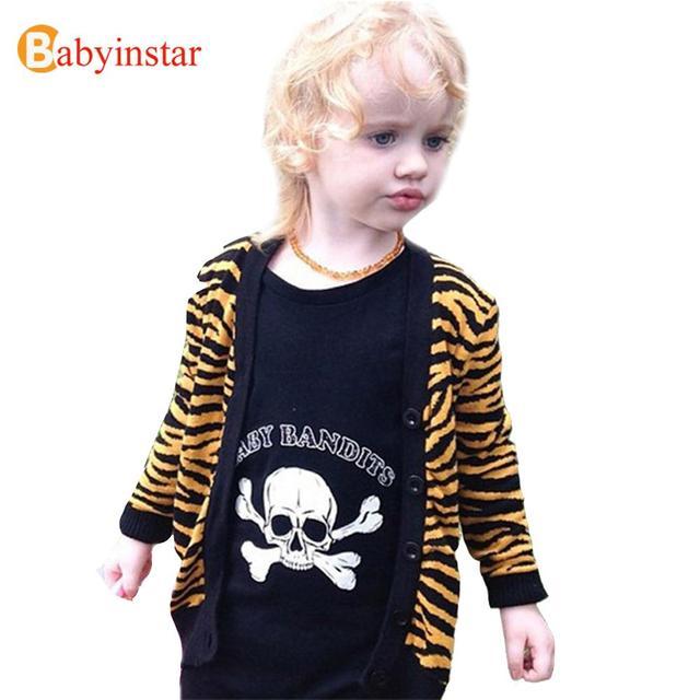 Moda Infantil Camisola de Malha primavera Outono Meninos Meninas Leopardo Casaco de Manga Longa Crianças Outerwear Criança Cardigan Camisola