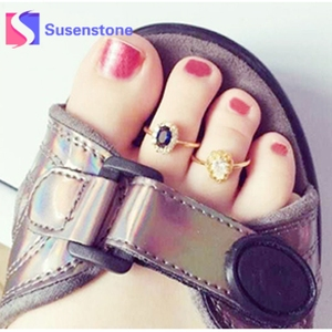 1pc Celebrity Fashion Gold Open Adjustable Toe Ring for Women Creative Foot Finger Rings Wholesale Female Charm Jewelry(China)