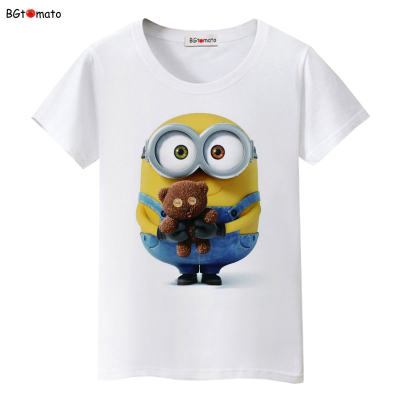 bgtomato minions toys lovely t shirt women famous popular. Black Bedroom Furniture Sets. Home Design Ideas