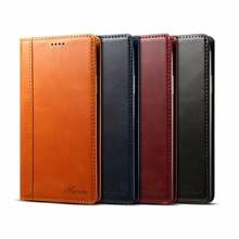 for iphone x case Leather Wallet cow iPhone 8 plus Folio Flip Cover xs max Card xr Slots Holder Coque Business men 7plus Brown