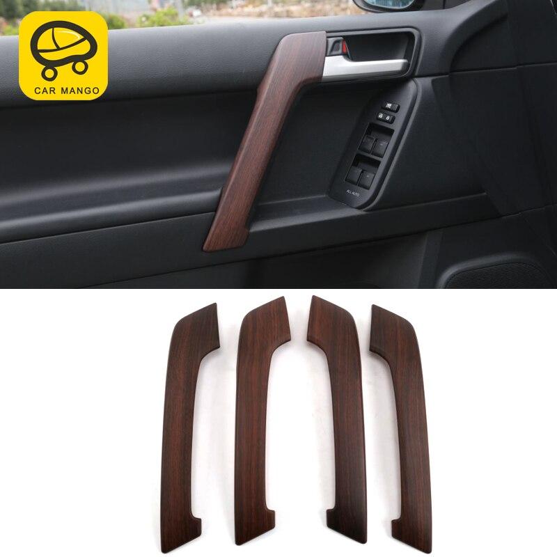 CarManGo pour Toyota Prado 2018 voiture style bois porte intérieure accoudoir panneau couverture garniture cadre autocollant accessoires d'intérieur