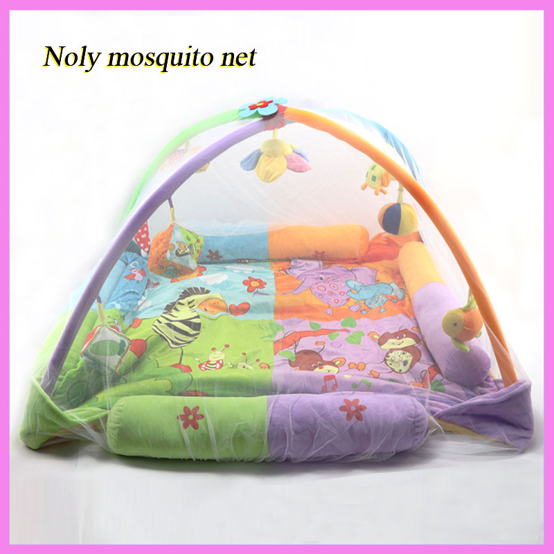 Baby Playmat Mosquito Net Game Blanket Baby Gym Activity Mosquito Net Large Newborn Play ...