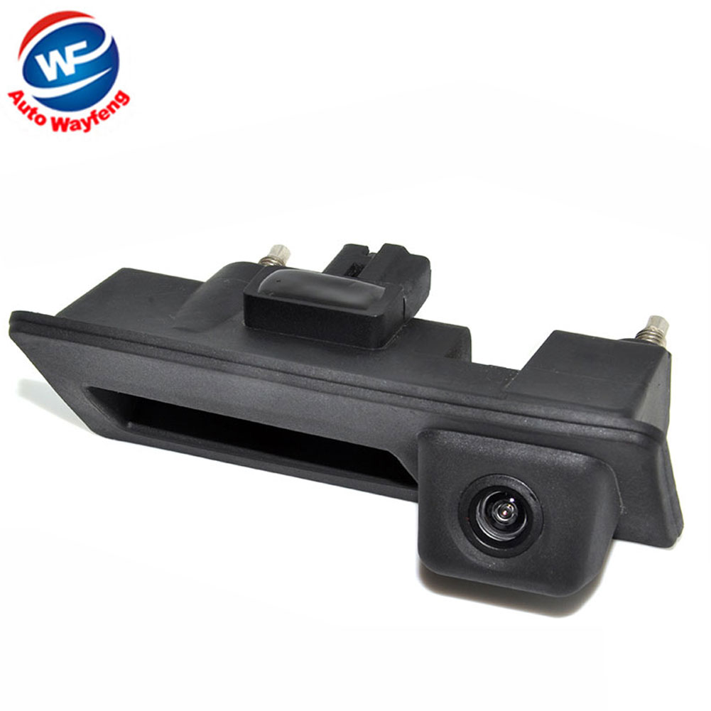 CCD HD impermeable Car Runk Handle aparcamiento retrovisor cámara de respaldo para Audi/VW/Passat/Tiguan/Golf/Touran/Jetta/Sharan/Touareg