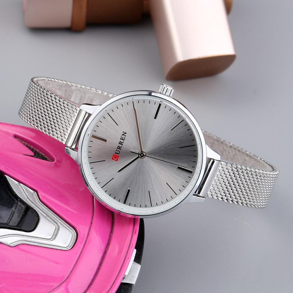 hot fashion quartz watch for women casual ladies watch free shipping waterproof elegant golden steel mesh band (35)