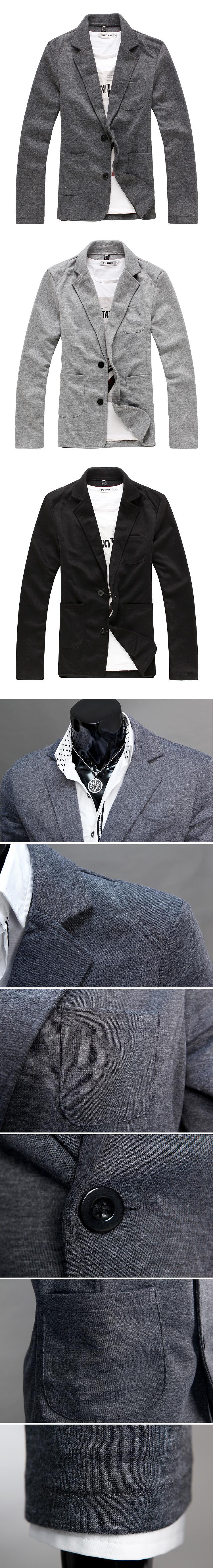 Puuvillast pintsak musta või halli värvi