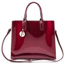 Модные яркие однотонные сумки на плечо из лакированной кожи для женщин, простые роскошные сумки, повседневная сумка-мессенджер, большая сумка
