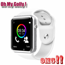 OMG ! A1 Bluetooth Smart Watch W8 for Apple Watch with Camera 2G SIM TF Card Slot Smartwatch Phone For Android IPhone Russia T15(China)