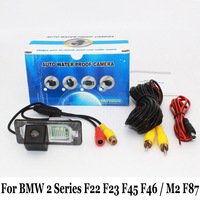 Car Rearview Camera For BMW 2 F22 F23 F45 GT F46 M2 F87 / RCA AUX Wire Or Wireless Night Vision Auto Reverse Parking Camera
