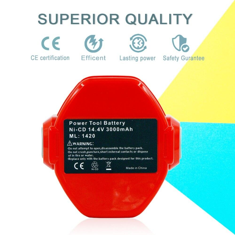 2 pièces batterie de rechange Rechargeable ni-cd 14.4 V 3000 mAh pour Makita outils électriques 6381D 6337D piles nicd 1420 1433 1435 1434 - 6