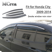 Mcrea 4 pcs abs 자동차 연기 창 honda city 용 sun rain visor 디플렉터 가드 2009 2010 2011 2012 2013 2014 액세서리