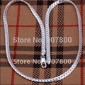 N130 factory price Top quality silver snake chain necklace 5MMX20inches Fashion Men's Jewelry