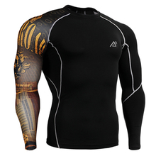 Name Brand Man s Compression Shirts Long Sleeves One Side 3D Prints Weight Lifting Skin Tghts