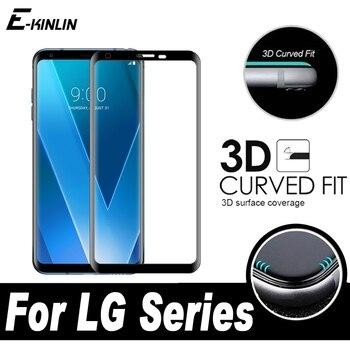 Перейти на Алиэкспресс и купить 3D изогнутый край Полное покрытие Защитная пленка для экрана закаленное стекло для LG бархат V30 V30S V35 V40 V50 V50S G8X G8 G7 Plus ThinQ 5G