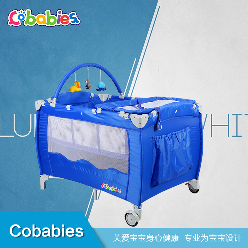 Portable Baby Crib Multi-functional Folding with Diapers Changing Table Travel Child Game Beds For home hang