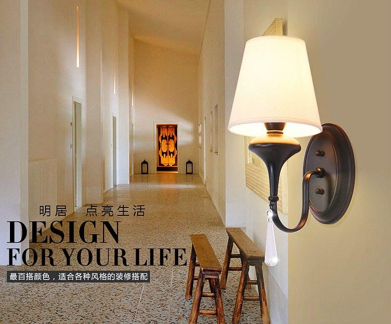 Stile moderno da parete lampada da comodino camera da letto